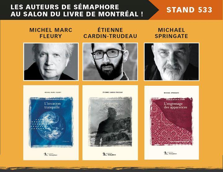 Le Salon du livre de Montréal commence demain ! Venez rencontrer les auteurs de…