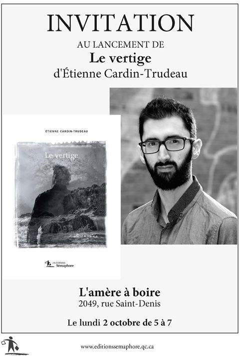 *** RAPPEL *** Le lancement du roman «Le vertige», c'est aujourd'hui!!!! Venez faire un… (via facebook)