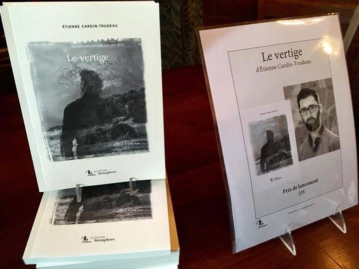 Lundi soir, nous avons lancé avec succès le prometteur LE VERTIGE, le premier roman… (via facebook)