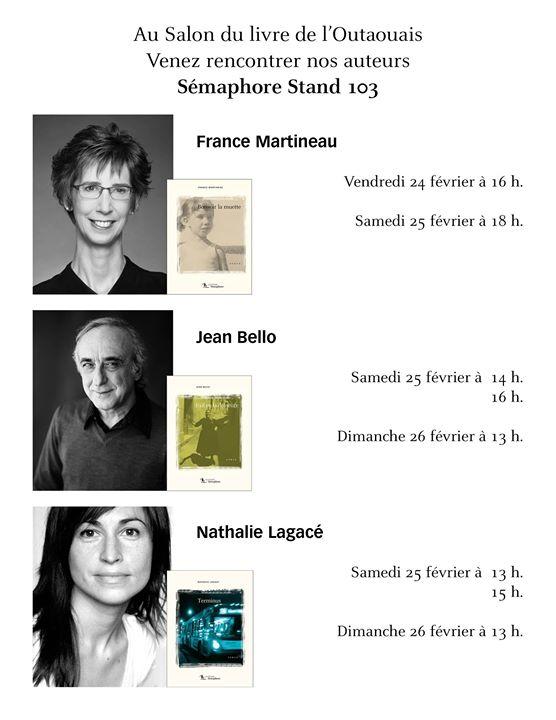 Le Salon du livre de l'Outaouais ouvre la semaine prochaine. Venez nous voir et… (via facebook)