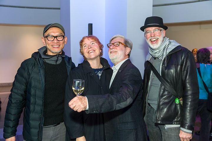 Belle soirée au lancement du livre. Avec Ed Pien, Cynthia Girard, Claude Gosselin, Joaness… (via facebook)