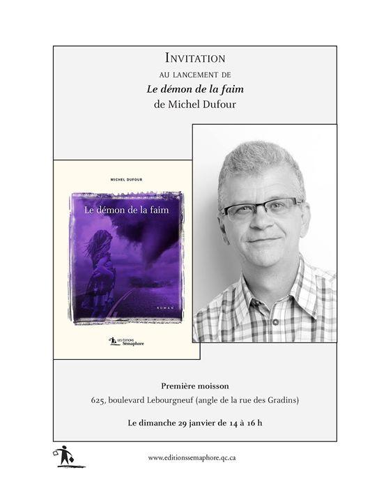 Amies et amis de Québec, Michel Dufour lance son premier roman chez Les éditions… (via facebook)