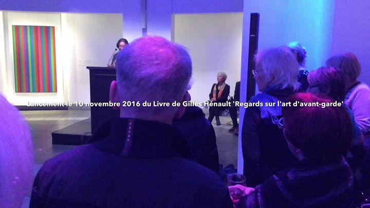 Rose-Marie Arbour au lancement de «Regards sur l'art d'avant-g (via facebook)