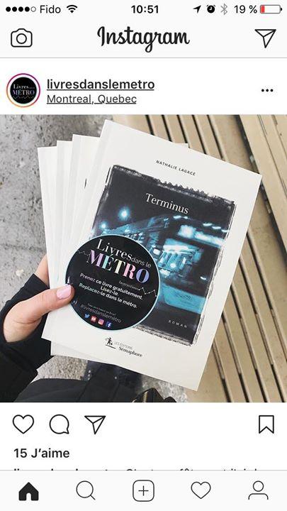 *** Terminus dans le métro *** Samedi dernier, Audrée, de Livres dans le métro,… (via facebook)