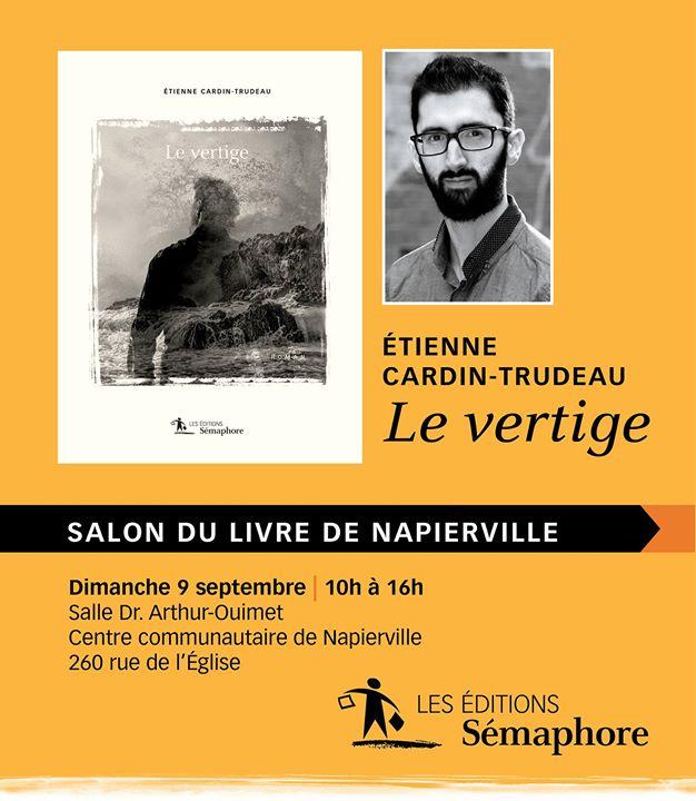 Venez rencontrer Étienne Cardin-Trudeau ! L'auteur du roman « Le vertige » sera au… (via facebook)