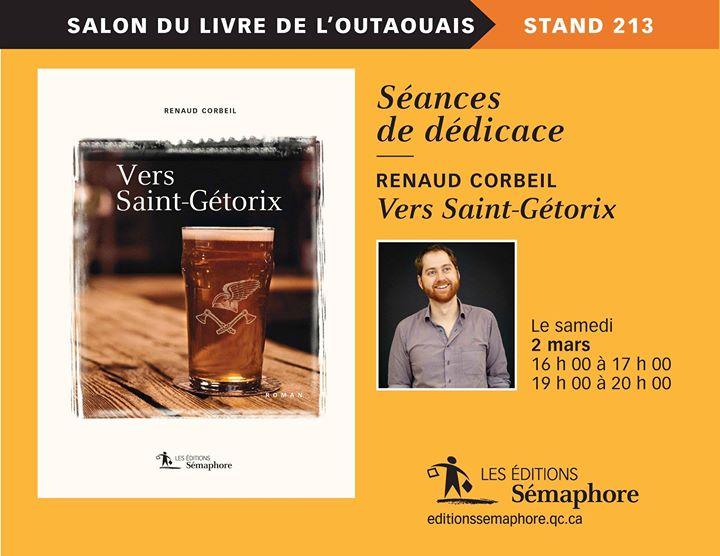 RENAUD AU SLO Samedi, l'auteur Renaud Corbeil sera au stand de Sémaphore pour discuter… (via facebook)