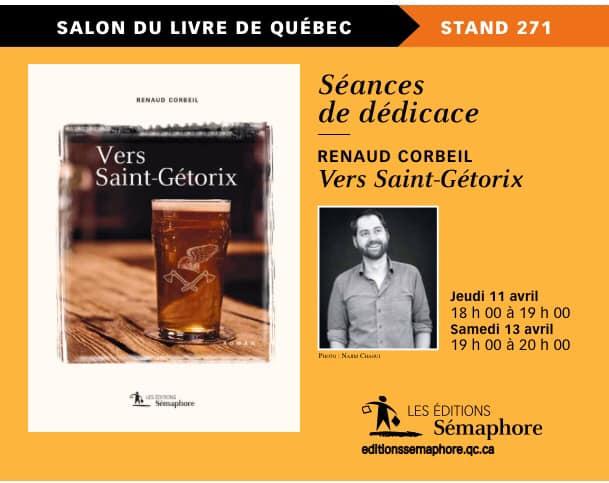 Renaud Cb au Salon international du livre de Québec (via facebook)