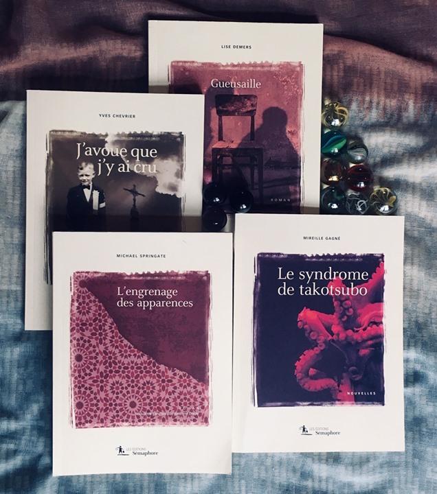 Nos auteurs Yves Chevrier, Mireille Gagné et Michael Springate, accompagnés de notre éditrice Lise… (via facebook)