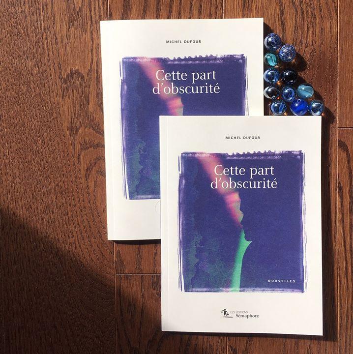 Les de Dominique Blondeau apposées à Cette part d'obscurité, de Michel Dufour «Miroir infaillible… (via facebook)