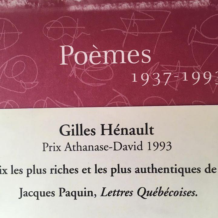 *Graffiti du jour* Se relire, c'est se revivre — Gilles Hénault La poésie de… (via facebook)